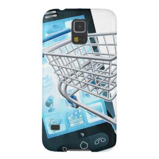 De mobiele telefoon van het boodschappenwagentje galaxy s5 cover