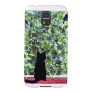 De mobiele Vogelwaarneming van de Kat van de Kunst Galaxy S5 Hoesje