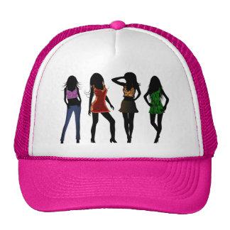 De Modellen van de Meisjes van de mode op de Trucker Cap