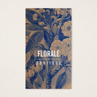 De moderne blauwe verf van pakpapier elegante visitekaartjes