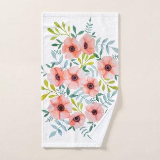 De moderne Bloemen Roze Illustratie van de Handdoek