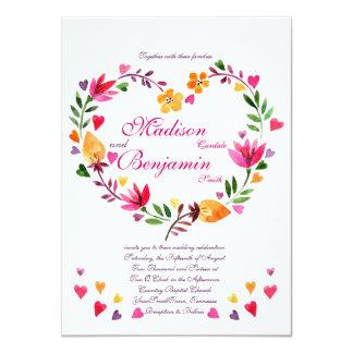De moderne BloemenUitnodigingen van het Huwelijk Kaart
