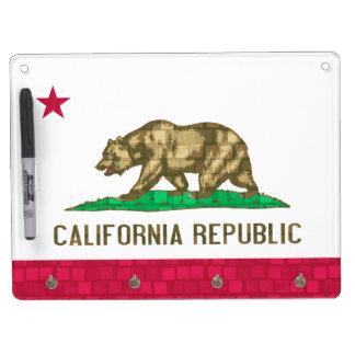 De moderne Californische Vlag van het Patroon Whiteboard Met Sleutelhanger