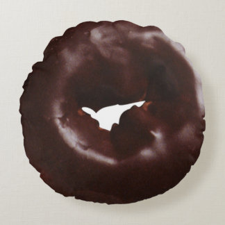 De moderne Chocolade Verglaasde Doughnut van de Rond Kussen