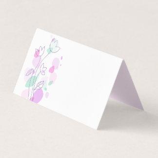 De moderne confettien bloeien de paarse kaarten