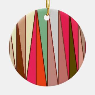 De Moderne Driehoeken van het midden van de eeuw, Rond Keramisch Ornament
