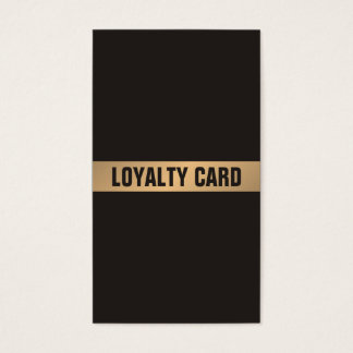 De moderne Eenvoudige Donkere Gouden Kaart van de Visitekaartjes