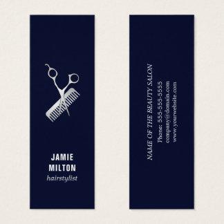 De moderne Elegante Blauwe Zilveren Kam van de Mini Visitekaartjes