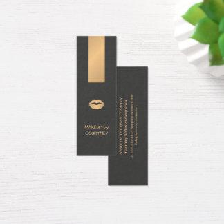 De moderne Elegante Donkere Grijze Gouden Mini Visitekaartjes