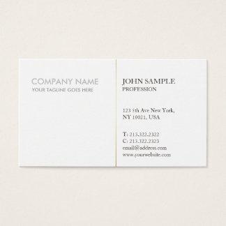 De moderne Elegante Eenvoudige Collectieve Vlakte Visitekaartjes