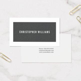 De moderne Elegante Grijze Witte Adviseur van de Visitekaartjes
