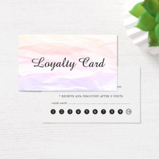De moderne Elegante Kaart van de Loyaliteit van de Visitekaartjes