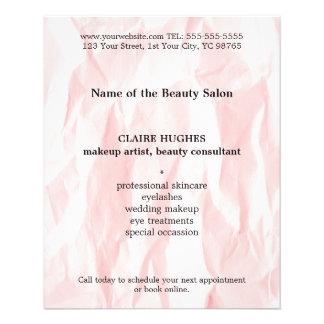 De moderne Elegante Kunstenaar van de Make-up van Flyer 11,4 X 14,2 Cm