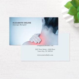 De moderne Elegante Therapeut van de Massage van Visitekaartjes