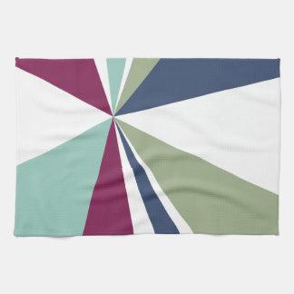 De moderne Geometrische Uitbarsting van de Kleur Handdoek