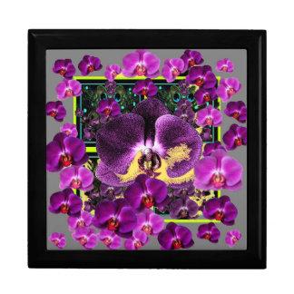 De moderne giften van de Kunst van de Orchideeën Vierkant Opbergdoosje Large
