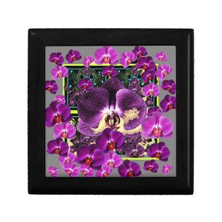 De moderne giften van de Kunst van de Orchideeën Vierkant Opbergdoosje Small