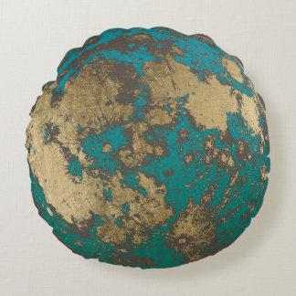 De Moderne Gouden Roestige Volle maan van de maan Rond Kussen