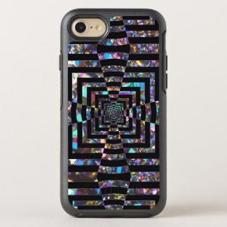 De moderne Grafische Iriserende Draaikolk van de OtterBox Symmetry iPhone 8/7 Hoesje
