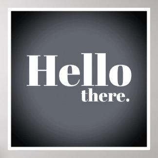 De moderne Grijze Typografie van Hello van de Poster