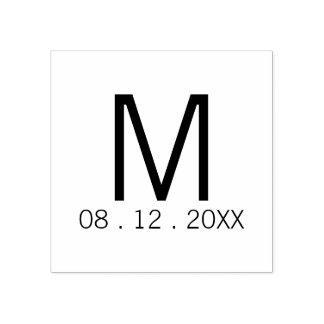 De moderne Gunst van het Huwelijk van het Monogram Rubberenstempel