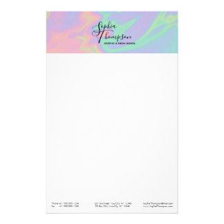 De moderne Holografische Kantoorbehoeften van de Briefpapier