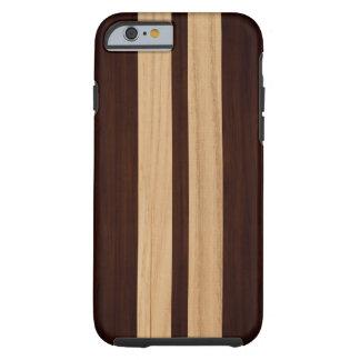 De moderne Houten Houten Korrel van het Patroon Tough iPhone 6 Hoesje