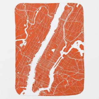 De Moderne Kaart van de Stad van New York Inbakerdoek