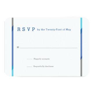 De moderne Kaarten van de Bar mitswa RSVP | Blauw 8,9x12,7 Uitnodiging Kaart