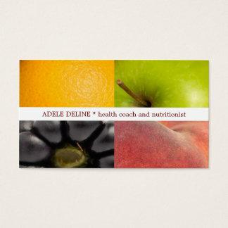 De moderne Kleurrijke Voedingsdeskundige van de Visitekaartjes