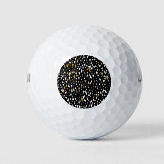 De Moderne Kunst van de driehoek - Zwart Goud Golfballen