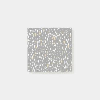 De Moderne Kunst van de driehoek - Zwart Goud Post-it® Notes