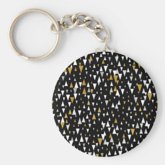 De Moderne Kunst van de driehoek - Zwart Goud Sleutelhanger
