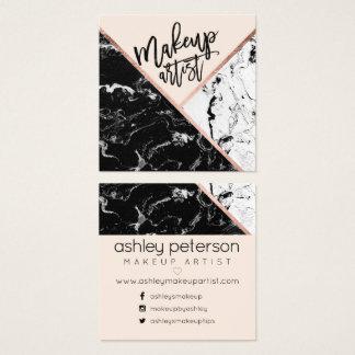De moderne make-uptypografie nam marmeren vierkante visitekaartjes