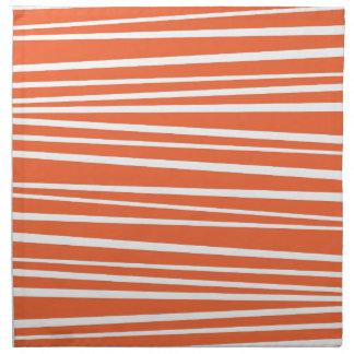 De moderne Oranje Abstracte Zigzag van de Strepen Katoenen Servetten