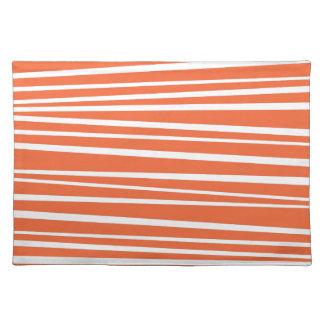 De moderne Oranje Abstracte Zigzag van de Strepen Placemats