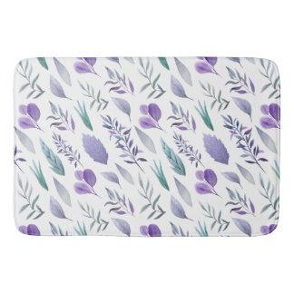 De moderne Paarse Lavendel van Bladeren en Badmat