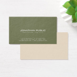 De moderne Professionele Elegante Trendy Textuur Visitekaartjes