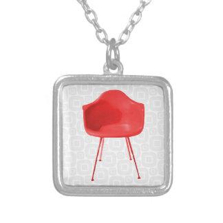 De Moderne Rode Stoel van het midden van de eeuw Zilver Vergulden Ketting