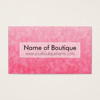 De moderne Roze Boutique Zachte Elegante Bokeh van Visitekaartjes