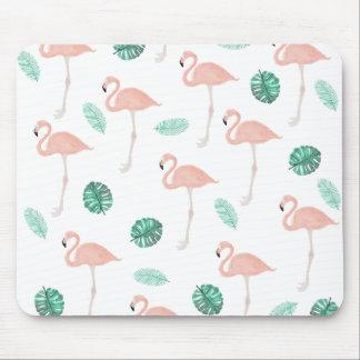 De moderne roze waterverf van het flamingo muismat