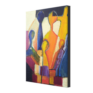 De moderne Samenvatting van het Cijfer van het Canvas Afdrukken