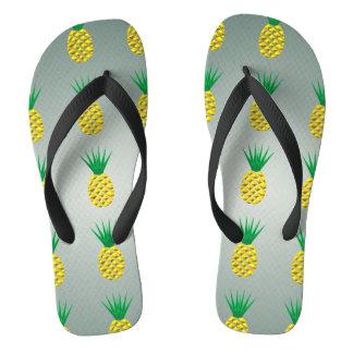 De Moderne Trendy Vector Styized van de ananas Teenslippers