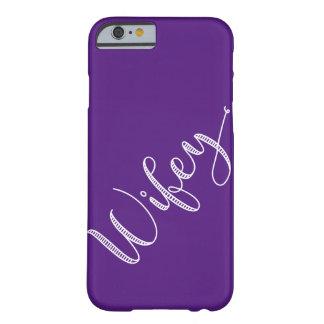 De moderne Typografie plukt Uw Kleur Wifey Barely There iPhone 6 Hoesje