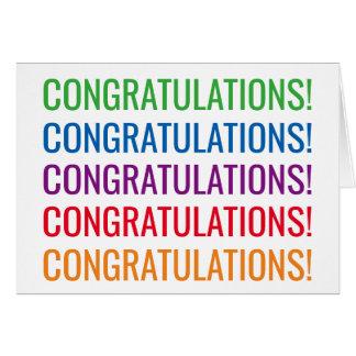 De moderne typografie van gelukwensen felicitatie briefkaarten 0
