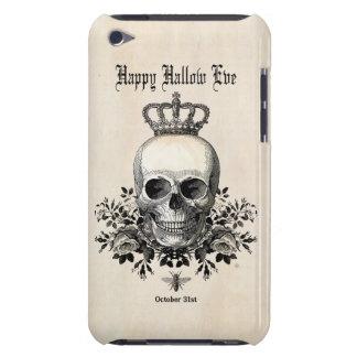 De moderne Vintage schedel van Halloween met kroon iPod Touch Hoesje