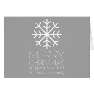 De moderne Vrolijke Sneeuwvlok van Kerstmis - Kaart