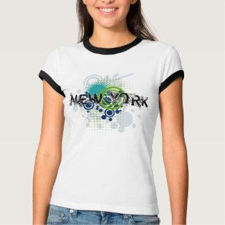 De moderne Vrouwen van de T-shirt van Grunge