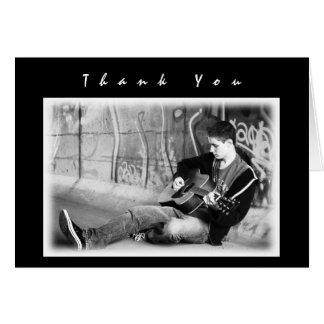 De moderne Zwarte Foto van Jongens dankt u de Gift Briefkaarten 0