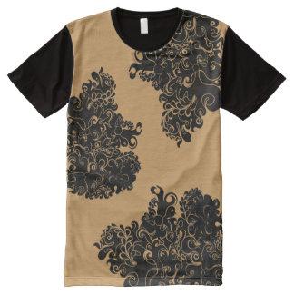De modet-shirt van de bloemenwervelings moderne All-Over-Print t-shirt